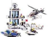 Kazi Police Station Building Block Sets 536pcs Educational DIY Bricks Toys Free Shipping Without Original Box