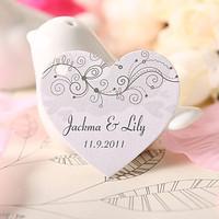 Free Shipping 60 pcs Personalized Garden Plant Heart Shaped Wedding Favor Tag/Wedding Decoartion/Garden Supplies