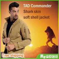 TAD V4.0 shark skin Commander Jackets men's Army Tactical Jacket outdoor Windproof waterproof warm jacket