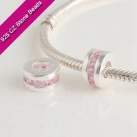 925 Silver European Brand Beads With GemStone, Semi Precious Jewelry, Jewelry SuppliesXS218B