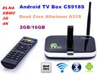 1 LOT 10 PCS  CS918S  Andriod 4.2 Smart TV Box Quad Core  2GB RAM 16GB ROM   Built in 5.0MP Camera XBMC Bluetooth 3G 4K WIFI