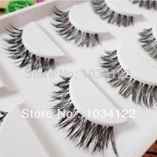 10 pair Long Thick Black Crisscross Japanese False Eyelashes Fake Eye Lashes Makeup(China (Mainland))