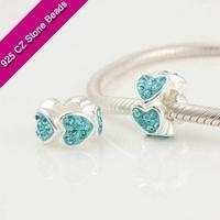 925 Silver European Brand Beads With GemStone, Jewelry Gemstone, Jewelry Beading SuppliesXS205D