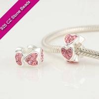 925 Silver European Brand Beads With GemStone, Semi Precious Gemstone Jewelry, Discount Jewelry Making SuppliesXS205B