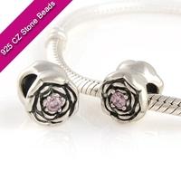 925 Silver European Brand Beads With GemStone, Gemstone Beads, Jewelry SuppliesXS176A