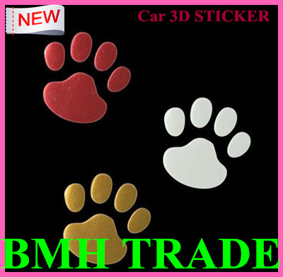 New Arrival&BEST PRICE, Universal Car Auto Adhesive Side Vent 3D Sticker Decals Bears Paw Car Sticker Fit All Car,Freeshipping(China (Mainland))