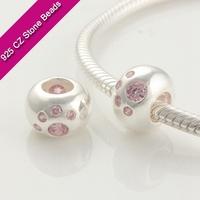 925 Silver European Brand Beads With GemStone, Semi Precious Beads Wholesale, Bead Jewelry SuppliesXS180C