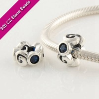 925 Silver European Brand Beads With GemStone, Jewelry Gemstones, Jewelry SuppliesXS199H
