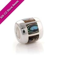 925 Silver European Brand Beads With GemStone, Semi Precious Stones, Jewelry Making SuppliesXS178A