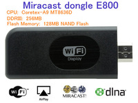 Newest Miracast dongle E800 MTK8636 256MB /128MB wifi display Dongle DLNA  Airplay ipush Support HDCP key 5pcs/lots