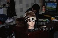 Sand fur hat rex rabbit material knitted cap mosaic knitted cap