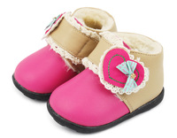 0-1 year old winter snow boots small infant toddler cow muscle shoes soft outsole princess cotton-padded shoes leather shoes