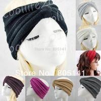 5 pcs/Lot NEWST Style knit Headband Beanie Ear Warmer Knitted headwrap turban bow