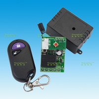DC 12V single channel wireless remote control switch + waterproof two-button remote control Mini Receiver Enclosure