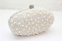 2014 Atest fashion Oval type pearl  dinner bag evening bag banquet bag star day clutch bridal bag