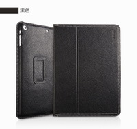 YOOBAO Executive Real Cowhide Leather Stand Wake/Sleep Smart Cover Case For Apple iPad Air with Retail Package  Black