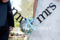 "Free shipping,1set Photo booth Prop,1set ""Mr&Mrs"" Letter Garland Banner, Wedding party Photography Props Decoration"