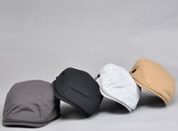 Unisex Cotton Driving Cabbie Newsboy Flat Cap Hat - Many Colors