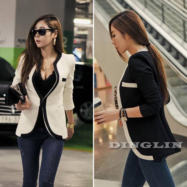White Coats For Women Coat Blazer Black White