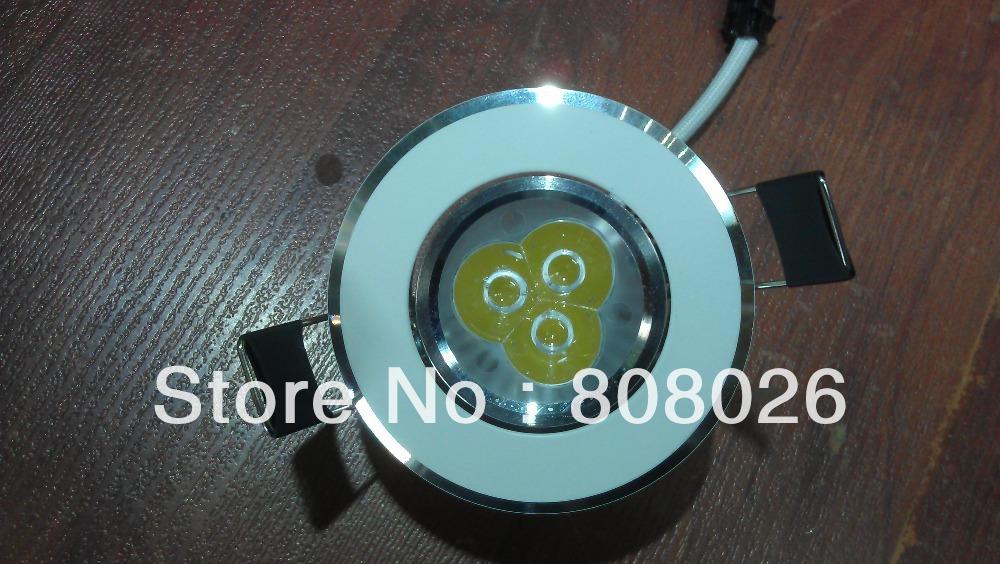 Free shipping 3x1W LED Downlight AC85-265(China (Mainland))