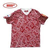 2012 Men t-shirt short-sleeve V-neck care lable bosco sochi 2014 olympics