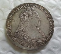 1736 RUSSIA 1 ROUBLE COIN COPY FREE SHIPPING