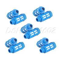 10Pcs Blue Air Pneumatic Plastic Muffler 1/8'' BSP Silencer Noise Filter