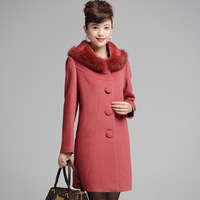 2013 winter women's fashion turn-down collar rex rabbit hair cashmere overcoat design long outerwear female plus size PT895