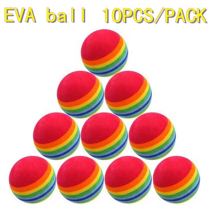 Wholesale 10PCS/PACK, Golf equipment indoor exercise rainbow golf ball Free shipping(China (Mainland))