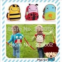 Cartoon Child Bag Kindergarten Small School Bag Male Female Child Baby Backpack Anti Lost Animal Schoolbag Free Shipping