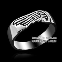 New 2013 silver 925 rings for men 925 sterling silver men jewelry silver wings ring fashion 2013 rings for men free shipping