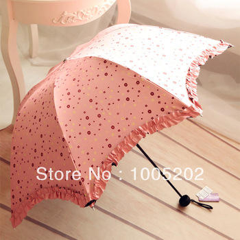Wave edge vinyl umbrella polka dot candy color anti-uv sunscreen sun protection umbrella apollo umbrella female