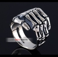 New 2013 vintage men jewelry Personalized thai silver ring crazy 925 sterling silver skull ring silver 925 rings free shipping