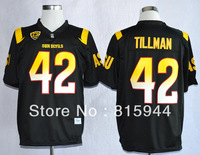 College Arizona State Sun Devils #42 Pat Tillman black ncaa football jerseys adult/ youth mix order free shipping