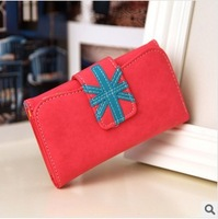 Free shipping new women's wallet short packet burst models fold wallet embossed leather wallet wholesale