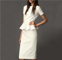 Free Shipping Designer Famous Brand Plus Size Fitted Winter Dresses Fashion Slim Basic Dress 4XL Women DM131910