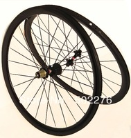 WS-CW03 :  3K Full Carbon Road Bike Clincher Wheelset  38mm  wheel Rim , HUB , SPOKES