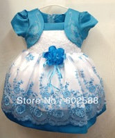 High Quality Kids Clothing Girls Dresses Flower Design Princess Dress Girls princess dress available