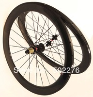 WS-TW06  Full Carbon 3k Matt Road Bike Tubular Wheelset Rims 60mm Wheel Rim