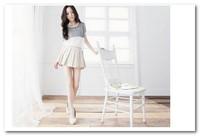2013 New Style Fashion Stripe Splicing Chiffon Blouse White/Black