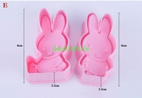 free shipping 2013fashion Cookie cutter 3D MIFFYE rabbit animal cake  Vegetable molds Dessert mold bakware mould DIY 4pcs/LOT