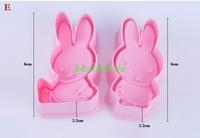 free shipping 2013fashion Cookie cutter 3D MIFFYE rabbit animal cake  Vegetable molds Dessert mold bakware mould DIY 4pcs/LOT