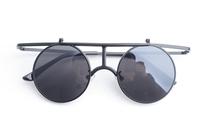 Free Shipping fashion lady gaga vintage circle reflective mirror sunglasses