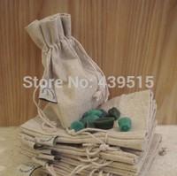 Wire logo cotton bag drawstring jute beam port linen bags cotton sack 04 - 1