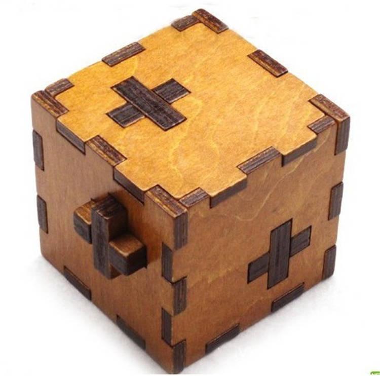 3d Wooden Cube Puzzles 3d Brain Teaser Wooden Puzzle