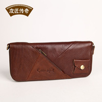 Wallet long design first layer of cowhide wallet fashion vintage brief zipper wallet 806165