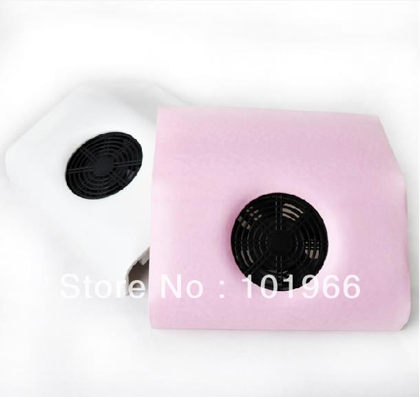 Free Shipping New 110-220V Suction Dust Machine Vacuum Cleaner Salon Tool Nail Art Dust Collector White/Pink Color Dropshipping(China (Mainland))