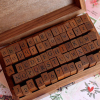 Wholesale freeshipping Wooden Stamps AlPhaBet digital and letters seal 70pcs set standardized form stamps Regular script letters