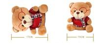 17*14CM Red/Grey/Orange/Purple Cartoon Lovely Bear Plush Pendants Toys/Dolls For Boy's/Girl's Gift Free Shipping
