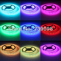 Free shipping super bright RGB LED 3M 60LED SMD 5050 36W not waterproof lights with flexible full portfolio ( free accessories )